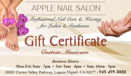 laguna-niguel-apple-nail-salon-gift-certificate-custom-manicure